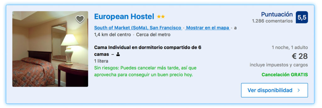San Francisco. Hoteles baratos. Donde dormir en SF barato y seguro-6