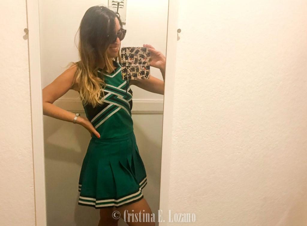 Ir de compras en Los Angeles Vintage America traje de cheerleader autentico
